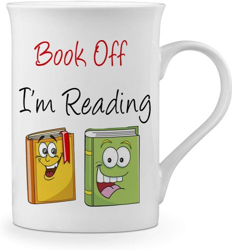 Book Off I'm Reading Funny Novelty Gift Fine Bone China Mug